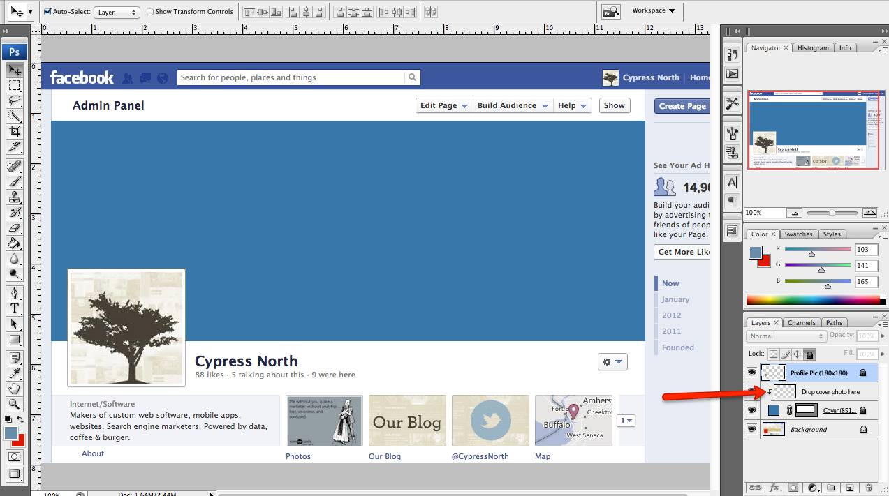 Facebook Page Cover Photo Dimensions http://cypressnorth.com/blog ...