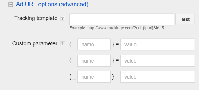 adwords tracking template
