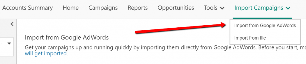 C:\Users\Jessica\Desktop\bing ads import from adwords