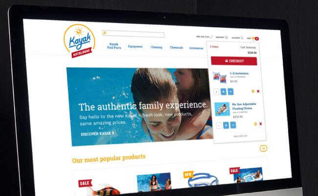 Kayak Katalogue E-Commerce Site