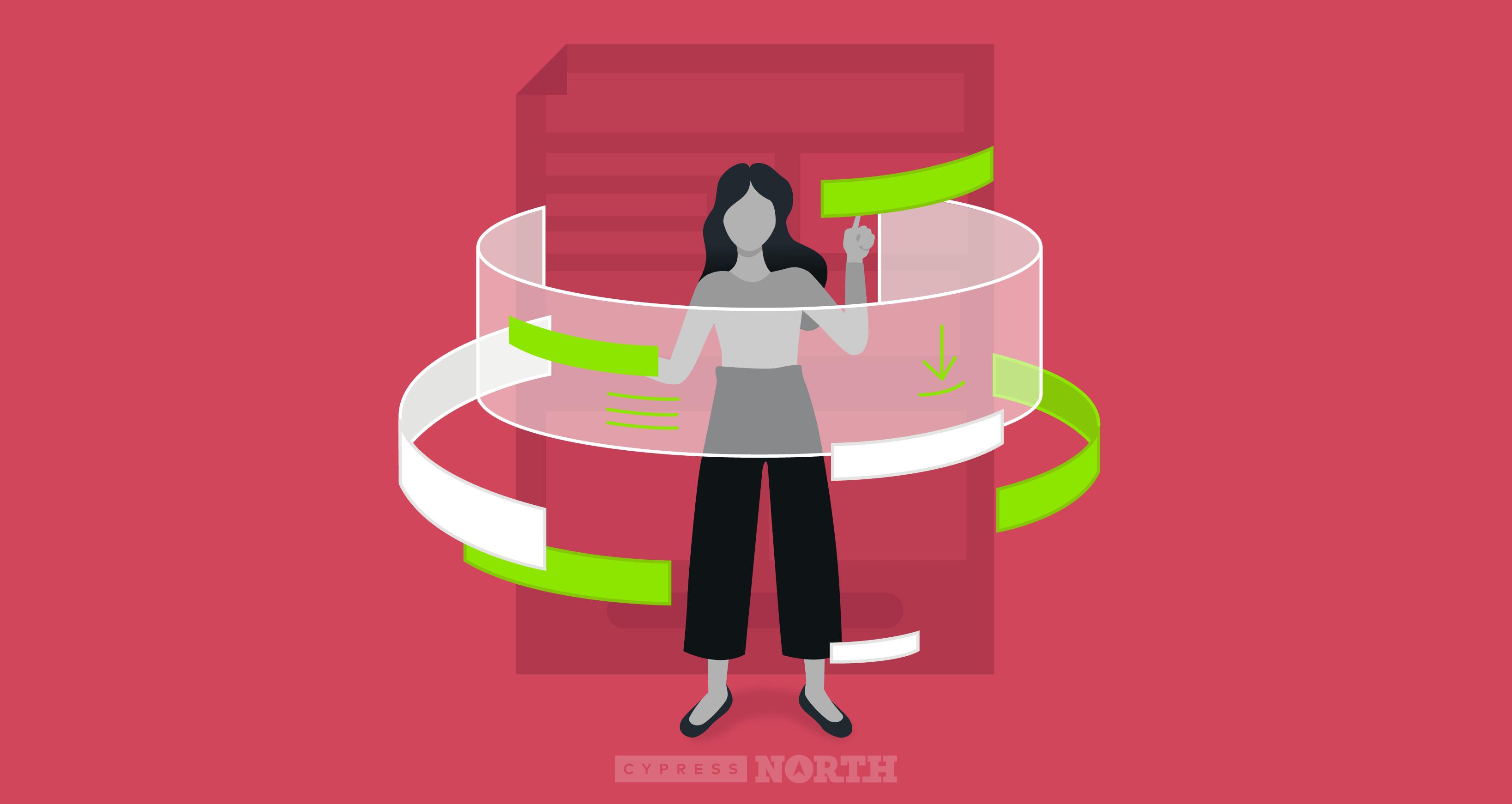 Image of woman viewing PDF
