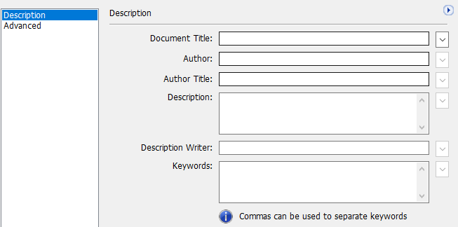 additional metadata window in Adobe Acrobat Pro DC