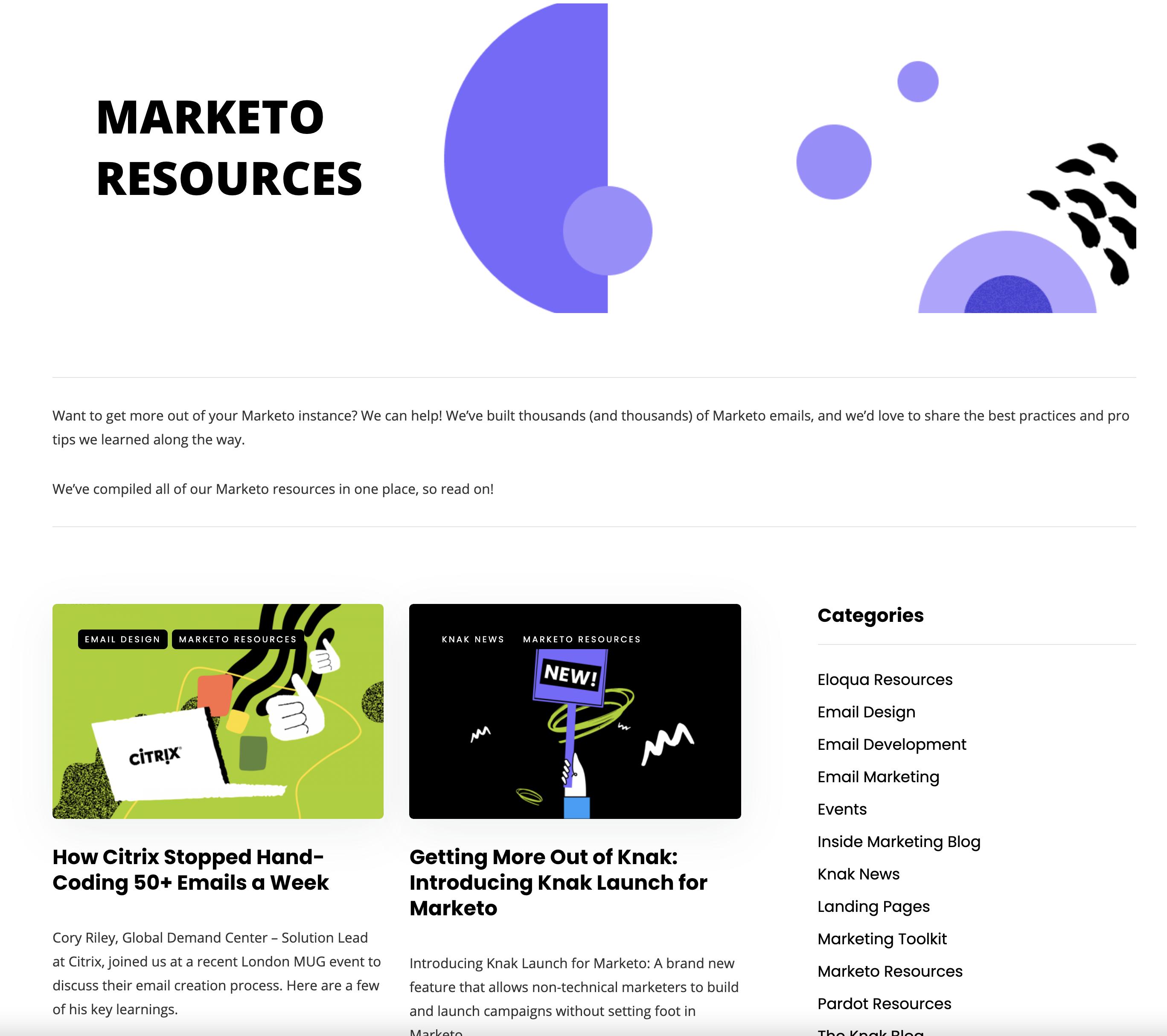 knak seo driven blog design